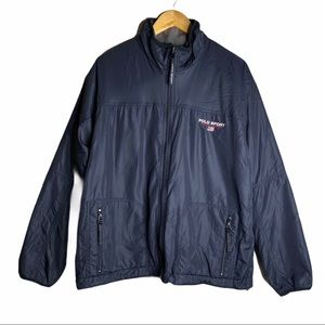 Polo Ralph Lauren Shearling Windbreaker Navy blue